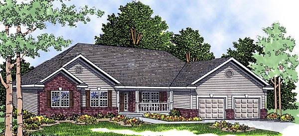 European House Plan 99115 with 3 Beds, 3 Baths, 3 Car Garage Front Elevation