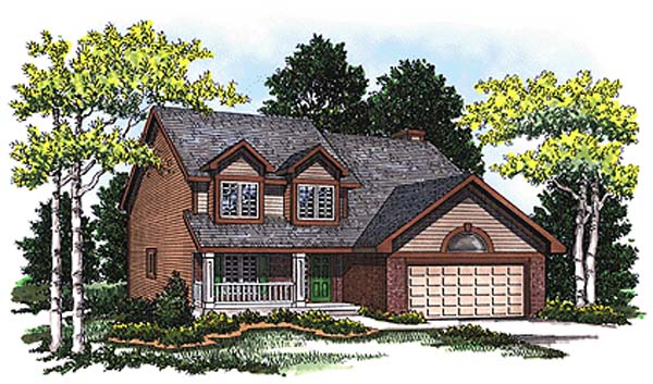 Bungalow, Country House Plan 99188 with 4 Beds, 3 Baths, 2 Car Garage Elevation
