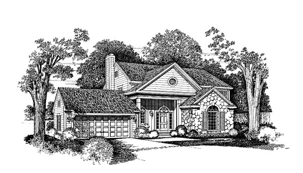 Bungalow House Plan 99251 with 3 Beds, 3 Baths Elevation