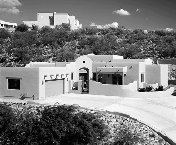 Santa Fe, Southwest House Plan 99276 with 4 Beds, 3 Baths, 3 Car Garage Picture 1