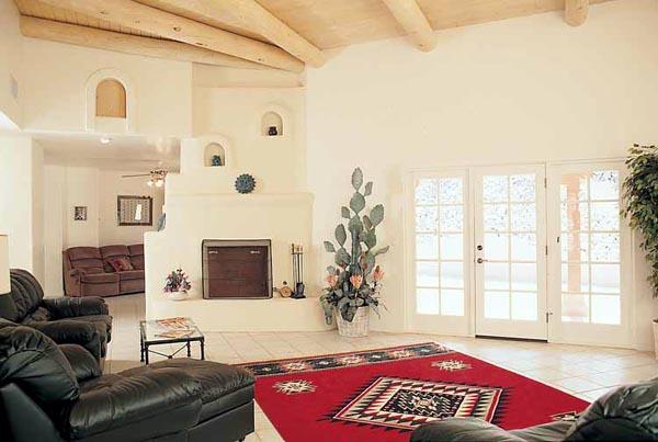 Santa Fe, Southwest House Plan 99276 with 4 Beds, 3 Baths, 3 Car Garage Picture 2