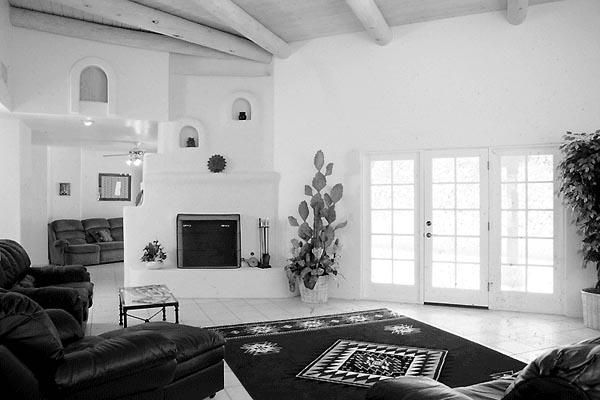 Santa Fe, Southwest House Plan 99276 with 4 Beds, 3 Baths, 3 Car Garage Picture 3