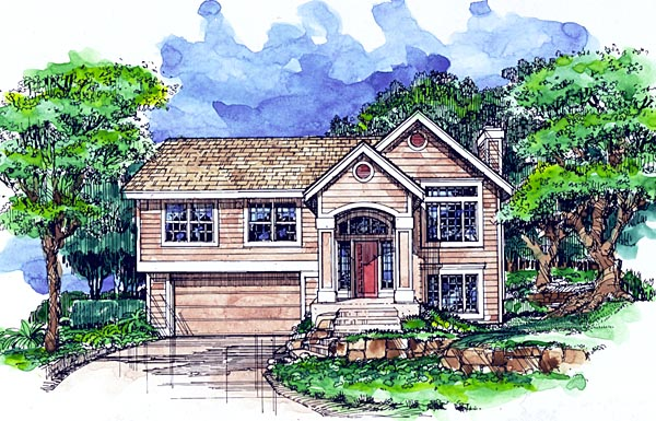 Country House Plan 99365 with 3 Beds, 3 Baths, 2 Car Garage Elevation