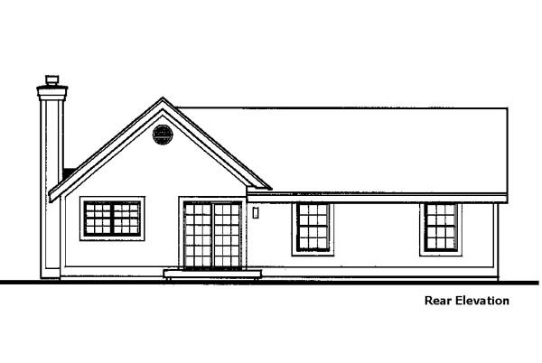 Country House Plan 99365 with 3 Beds, 3 Baths, 2 Car Garage Rear Elevation