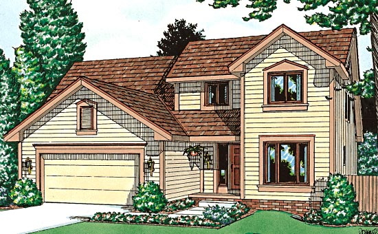 Country, Farmhouse House Plan 99403 with 4 Beds, 3 Baths, 2 Car Garage Elevation