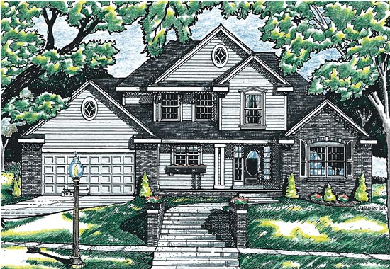 Bungalow, Country House Plan 99474 with 4 Beds, 3 Baths, 2 Car Garage Front Elevation