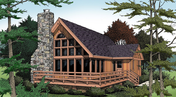 Contemporary House Plan 99645 with 3 Beds, 3 Baths Elevation