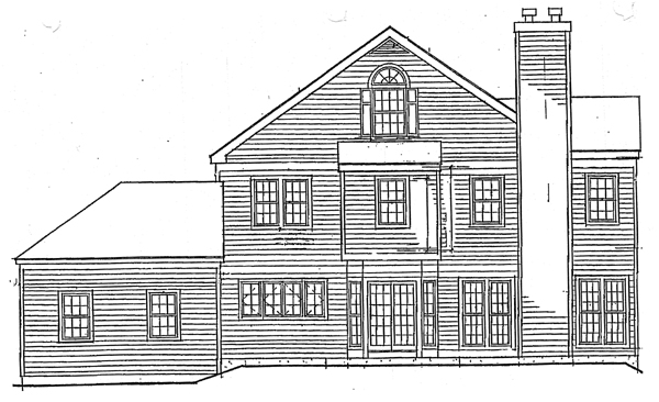 Country House Plan 99649 with 4 Beds, 4 Baths, 2 Car Garage Rear Elevation