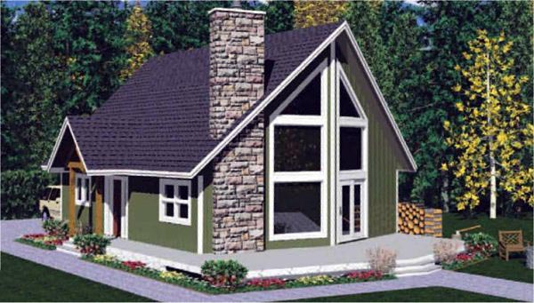 Contemporary House Plan 99914 with 2 Beds, 2 Baths Picture 4
