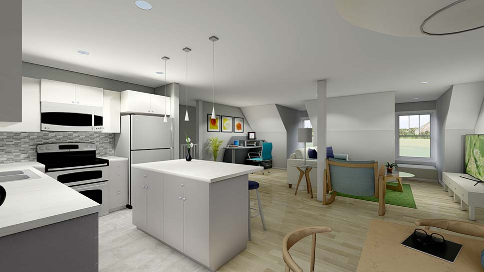 3 Car Garage Apartment Plan 99939 with 2 Beds, 2 Baths Picture 3