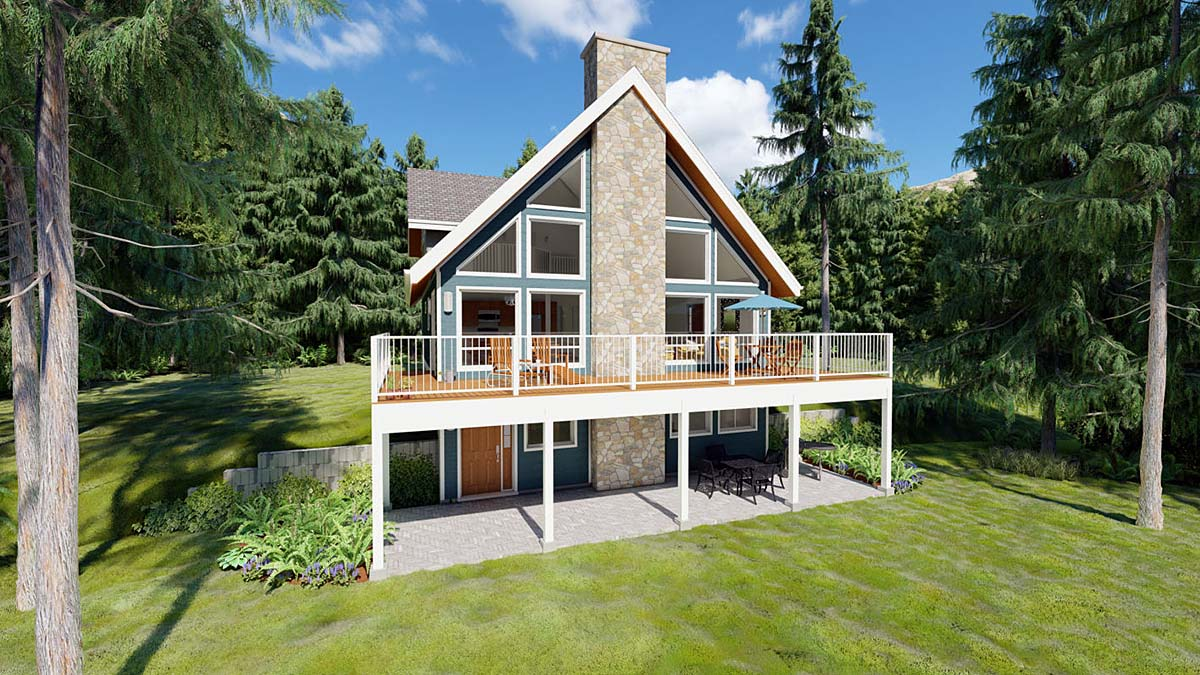 Contemporary, Traditional House Plan 99961 with 3 Beds, 2 Baths Elevation
