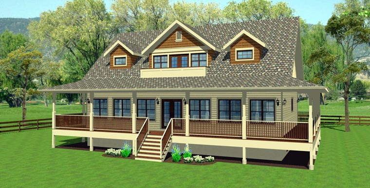 Country House Plan 99964 with 3 Beds, 4 Baths Elevation