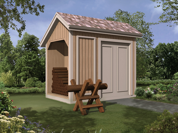 85917 - Storage Shed with Log Bin