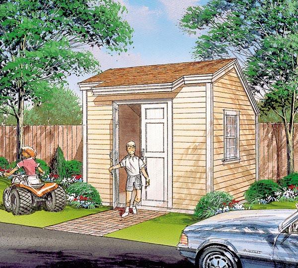 Salt Box Storage Shed  - Project Plan 85920