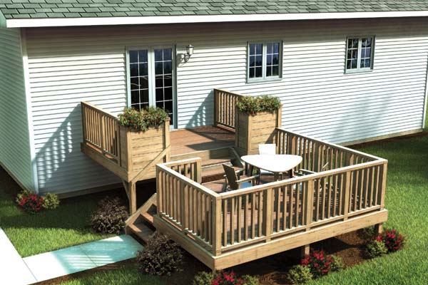 90017 - Split Level Simply Fancy Deck