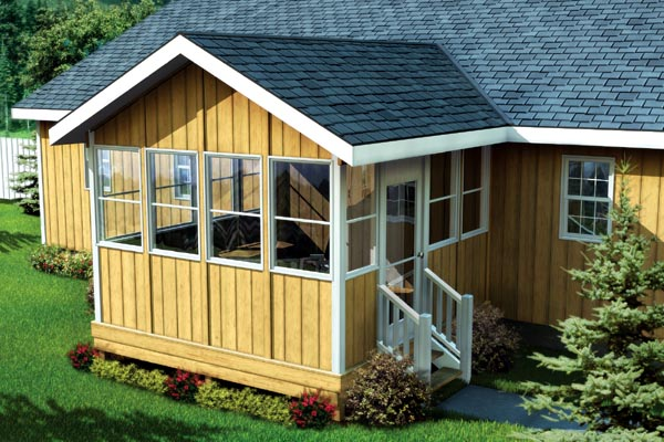90034 - Three-Season Porch With Gable Roof